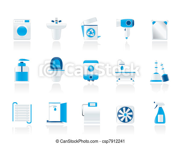 Bathroom and toilet objects - csp7912241