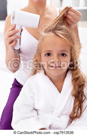 Drying hair - personal hygiene - csp7913536