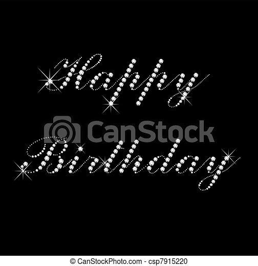 Happy Birthday with diamonds - csp7915220
