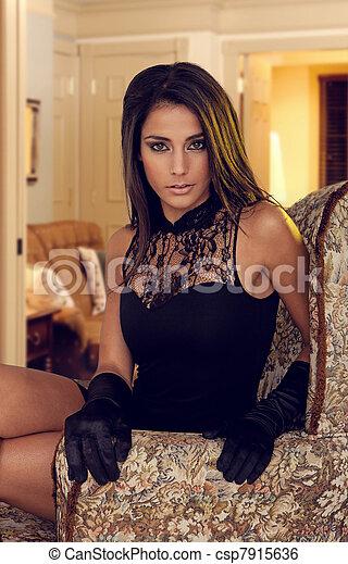 glamorous woman - csp7915636