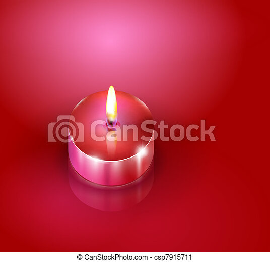 Aroma candles. Romantic background - csp7915711