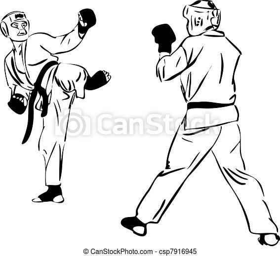 21 Karate Kyokushinkai sketch martial arts and combative sports(3).jpg