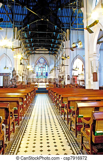 famous historic St. Johns Cathedral in Hong Kong - csp7916972