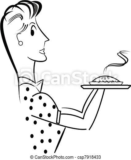mom with apple pie - csp7918433