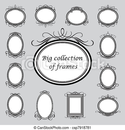 Big-collection-of-frames - csp7918781