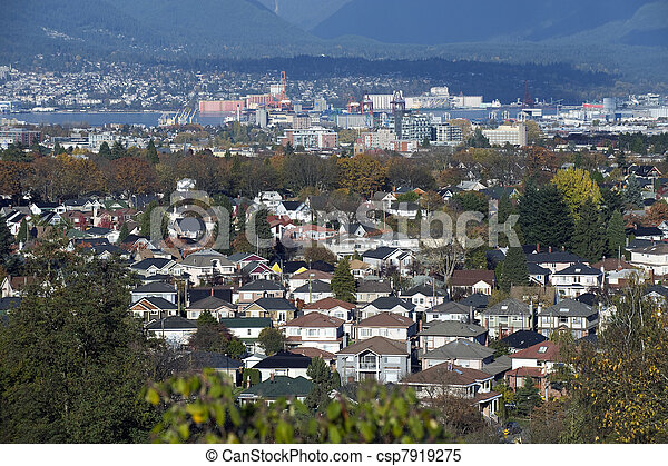 Vancouver residential area - csp7919275