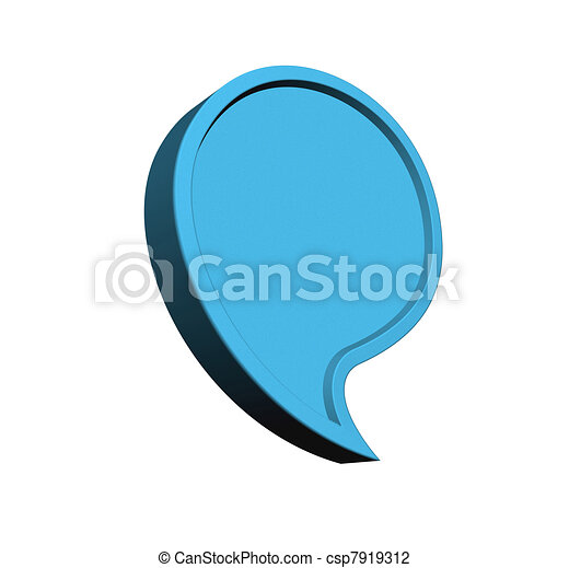 Sky blue social media bubble isolated - csp7919312