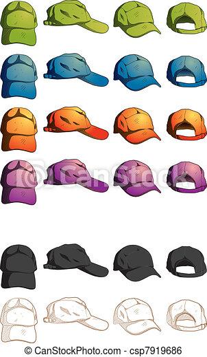 Cap Template Various Angle - csp7919686