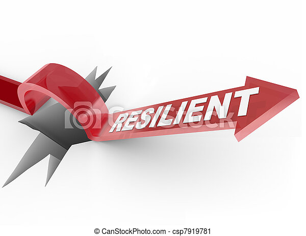 Resilient - Rising to Challenge and Overcoming a Problem - csp7919781