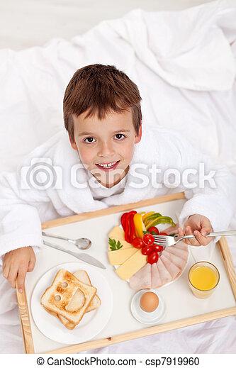 Happy morning - breakfast in bed