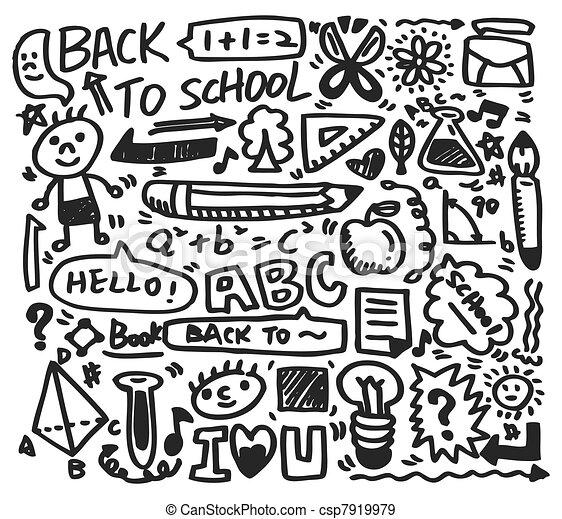 doodle school - csp7919979