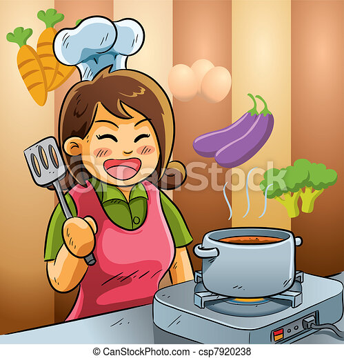 Mommy Love Cooking - csp7920238