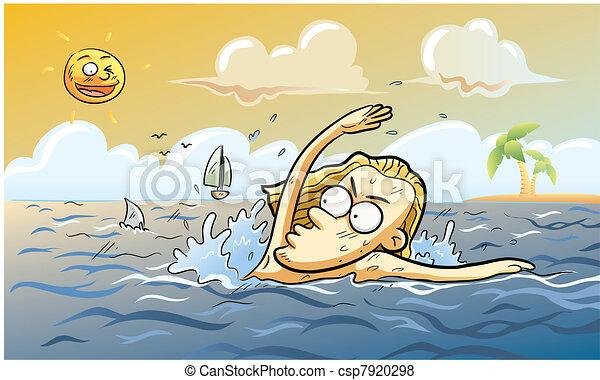Summer Shark Attack - csp7920298