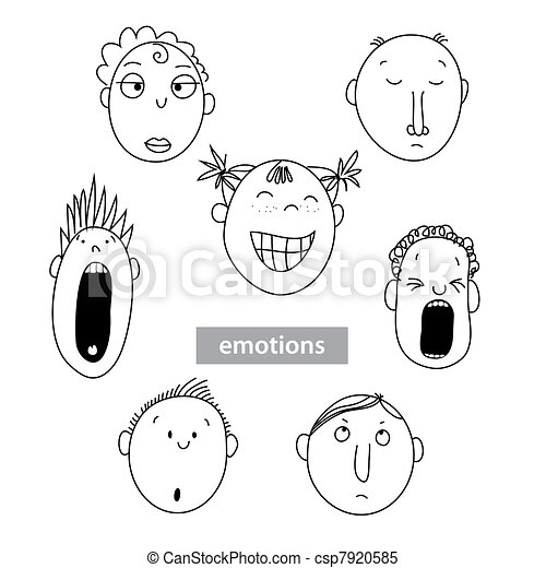 Emotion-people-vector-set - csp7920585