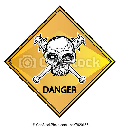 Skull sign danger  - csp7920666