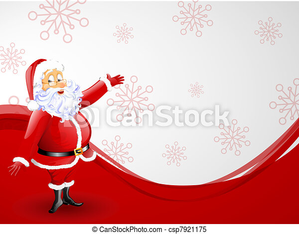 santa claus - christmas card - csp7921175