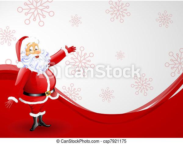 santa claus - christmas card - csp7921175