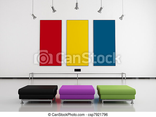 colorful art gallery - csp7921796