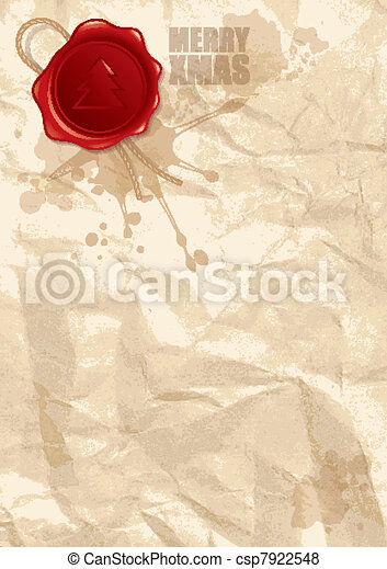 abstract illustration of wax stamp - csp7922548