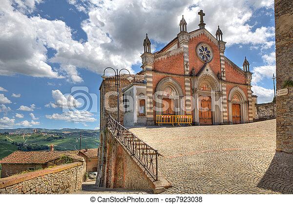 Old church in Castiglione Falletto, Italy. - csp7923038
