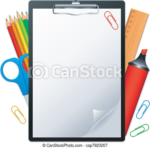 Clipboard and tools. - csp7923207