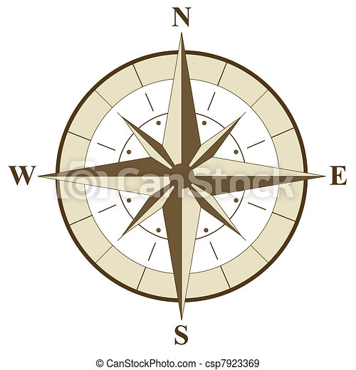 Compass Rose Illustration - csp7923369