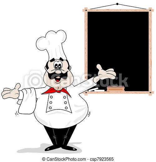 Cartoon chef cook - csp7923565