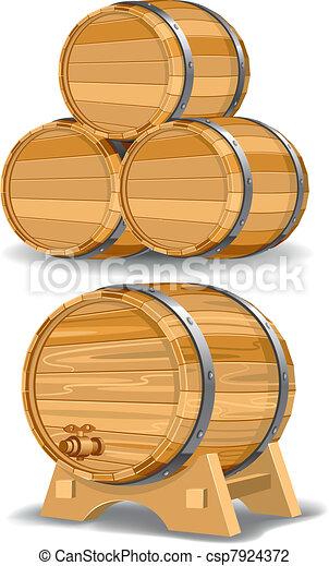 Wine barrel  - csp7924372