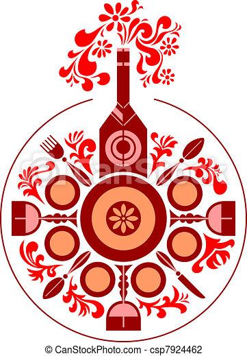Dinner table - csp7924462