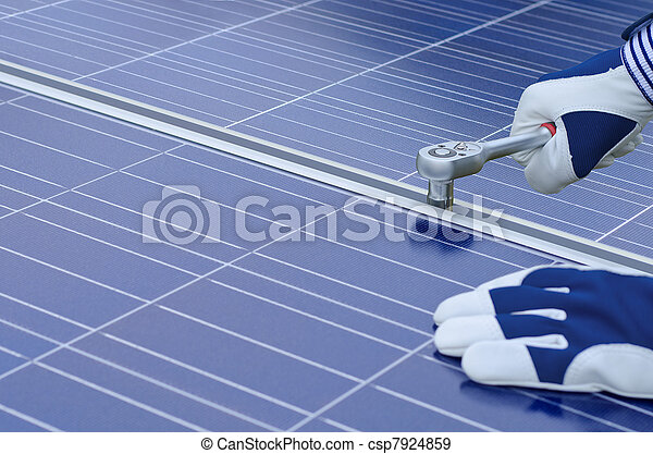 Assembly of solar panels - csp7924859