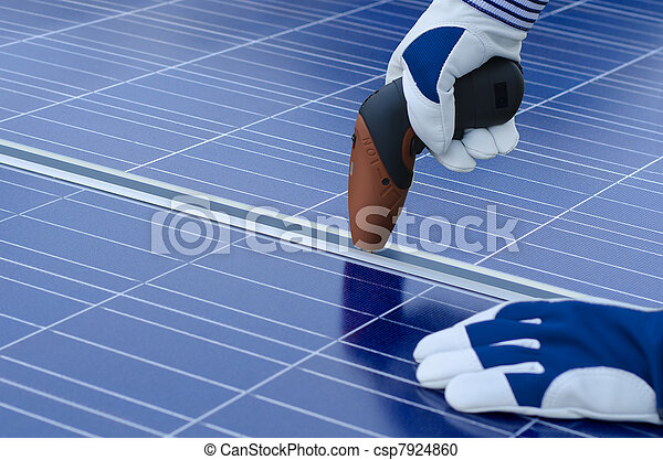 Assembly of solar panels - csp7924860