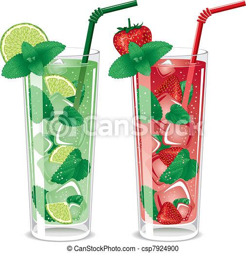 Refreshing mojito cocktails - csp7924900