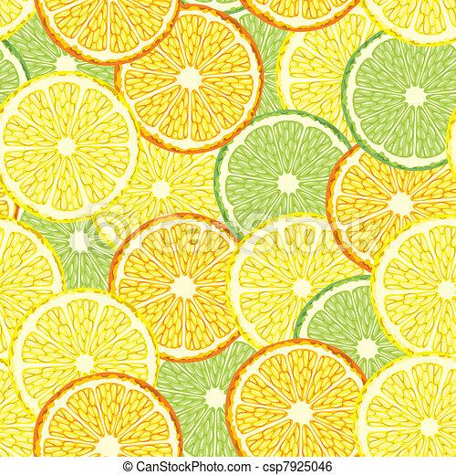 Citrus seamless background - csp7925046