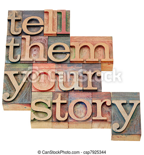 tell them your story - csp7925344