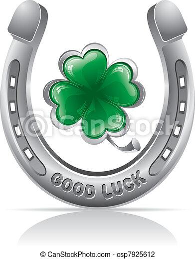 horseshoe and clover - csp7925612
