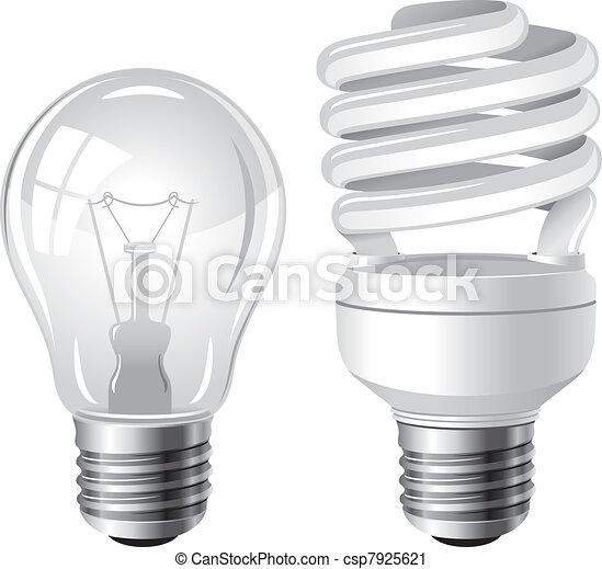 Two type of light bulbs - csp7925621