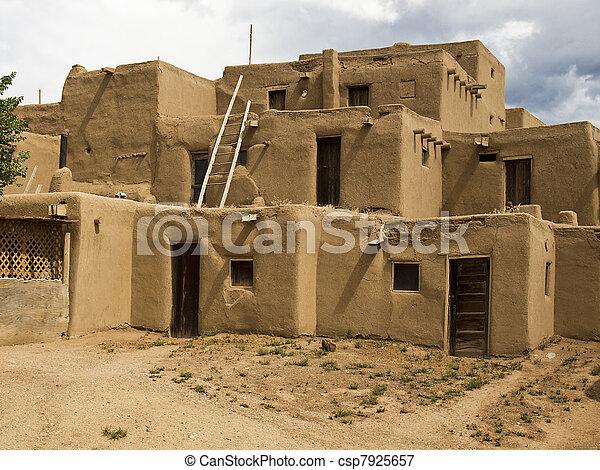 Historic Pueblo Building - csp7925657