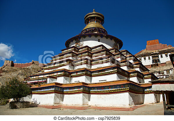 Kumbum of the Palcho Monastery, Gyantse - csp7925839