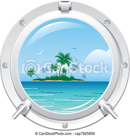 Porthole with sea view - csp7925859