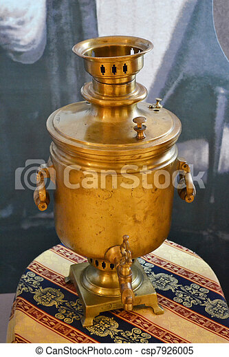 Antique copper samovar