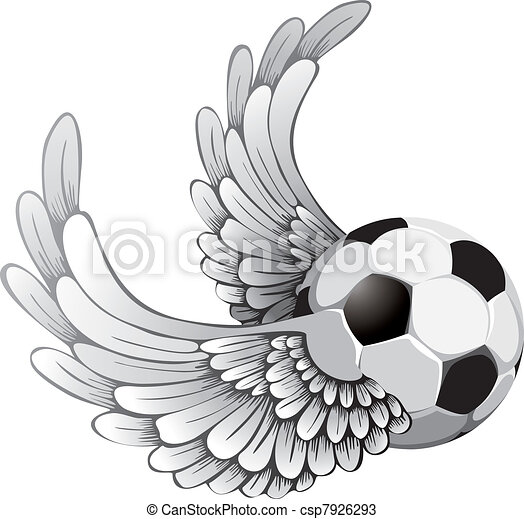 winged soccer ball - csp7926293