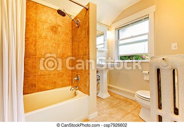stock foto von neu remodeled badezimmer mit fenster und gold csp7926602 suchen sie. Black Bedroom Furniture Sets. Home Design Ideas