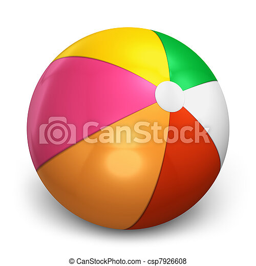 Color beach ball - csp7926608