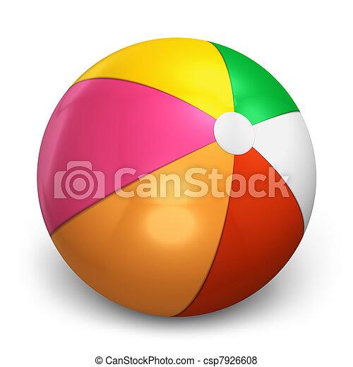 Color beach ball - csp7926608