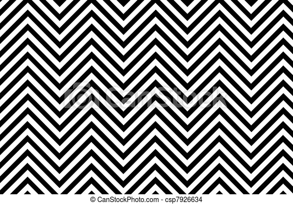 Trendy chevron patterned background black and white - csp7926634