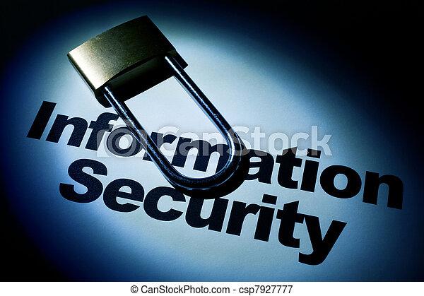 informazioni, sicurezza - csp7927777
