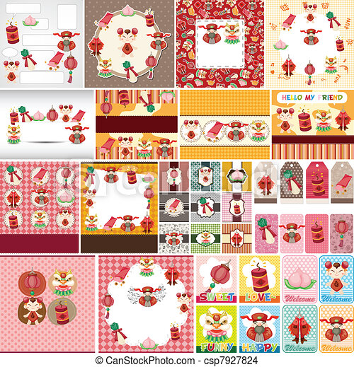 Chinese New Year card - csp7927824
