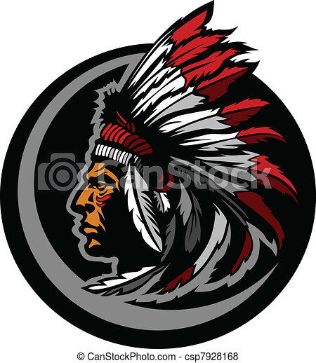 American Native Indian Chief Mascot - csp7928168