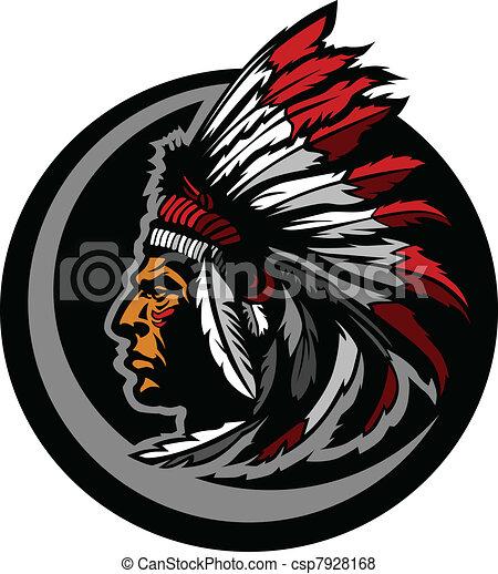 American Native Indian Chief Mascot - csp7928168