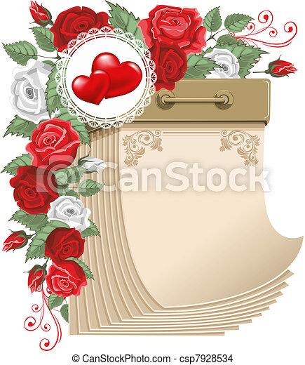 Tear-off calendar, Valentines day  - csp7928534
